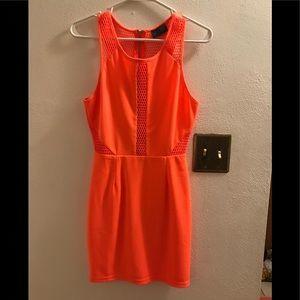 ASTR mesh knit dress